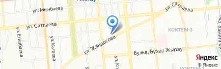 Компьютер и я на карте Алматы