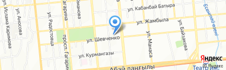 Крал на карте Алматы