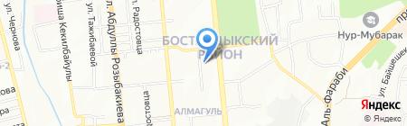 Магазин бытовой химии на ул. Алмагуль микрорайон на карте Алматы