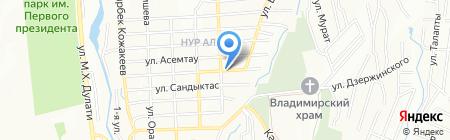 Роза продовольственный магазин на карте Алатау