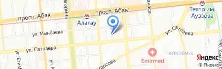 Яблоко на карте Алматы