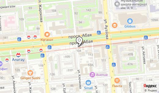 KOREAN Cafe. Схема проезда в Алматы