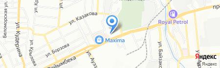 Шаган на карте Алматы