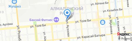 Интернет-кафе на ул. Толе би на карте Алматы