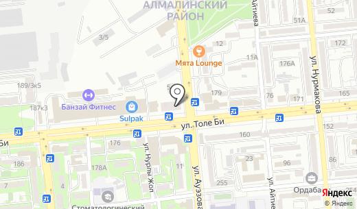 Wow Burger. Схема проезда в Алматы