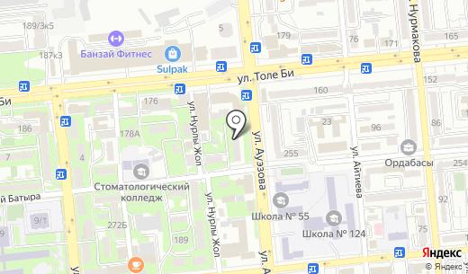 Sapphire-Optic. Схема проезда в Алматы