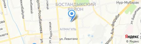 Бейбарс на карте Алматы