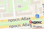 Схема проезда до компании Каспийский университет в Алматы