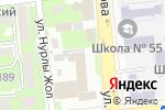 Схема проезда до компании In Art в Алматы