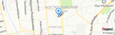 Нотариус Ершова О.О. на карте Алматы