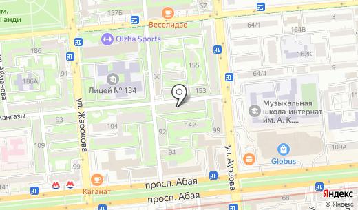 Мадо. Схема проезда в Алматы