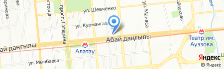 Альда на карте Алматы