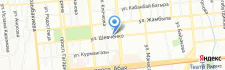 Шиномонтажная мастерская на ул. Шевченко на карте Алматы