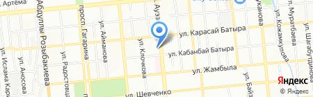 Кузет-Моторс на карте Алматы