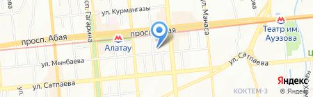 Солнечный луч на карте Алматы