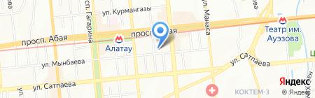 Капитал на карте Алматы