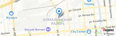 Нотариус Бекенова Д.У. на карте Алматы