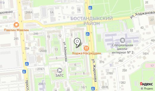 Рахмет продовольственный магазин. Схема проезда в Алматы