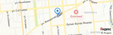 Азия Знак Казахстан на карте Алматы