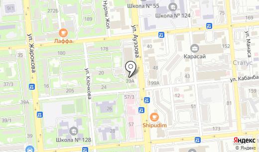 Avesta. Схема проезда в Алматы