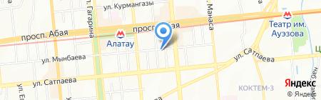 24 часа на карте Алматы