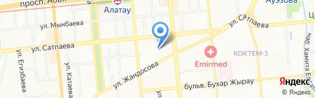 Международная школа г. Алматы на карте Алматы