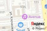 Схема проезда до компании Avenue Club в Алматы