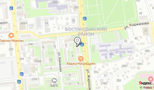 Клиника Мамекова. Схема проезда в Алматы