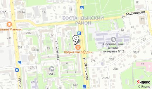 Алмалюкс. Схема проезда в Алматы