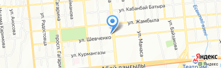 Золотая нить на карте Алматы