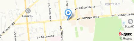 Алтын-Ине на карте Алматы