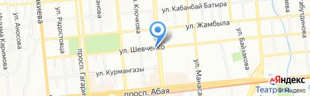 Киоск по продаже молочной продукции на карте Алматы