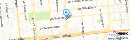 Белый кит на карте Алматы