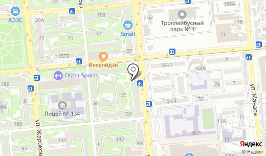 Бастау. Схема проезда в Алматы