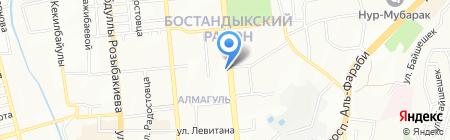 Тамсан на карте Алматы