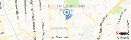 Массажный кабинет на ул. Алмагуль микрорайон на карте Алматы