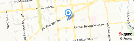 Ясли-сад №88 на карте Алматы
