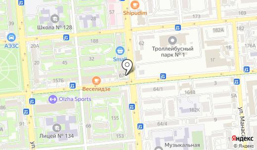 Первомайские деликатесы. Схема проезда в Алматы