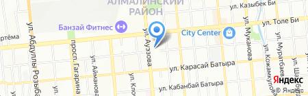 Нотариус Хасеинова Б.А. на карте Алматы