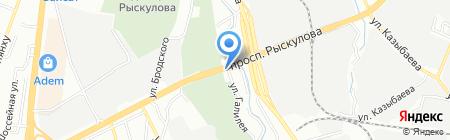 Пункт замены масла на ул. Галилея на карте Алматы