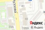 Схема проезда до компании Информсвязь Казахстан в Алматы