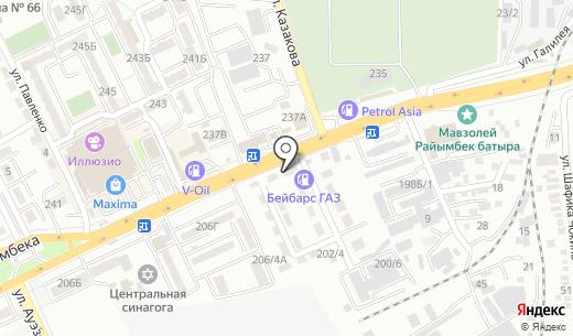 Гранит Люкс. Схема проезда в Алматы