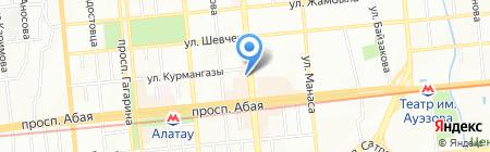 Кулимбек на карте Алматы