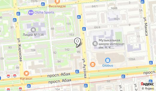 Подружка. Схема проезда в Алматы