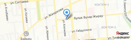 Эквивалент на карте Алматы