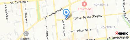Рыбки на карте Алматы