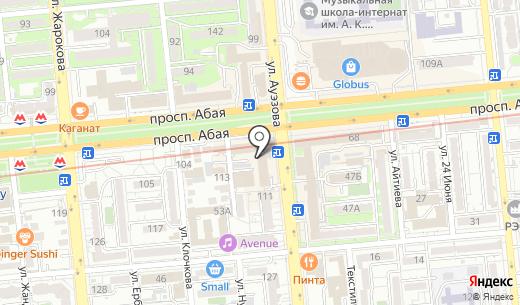 Независимая оценочно-экспертная компания. Схема проезда в Алматы