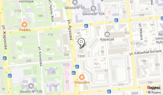 Axelaprint. Схема проезда в Алматы