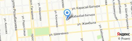 Танго на карте Алматы