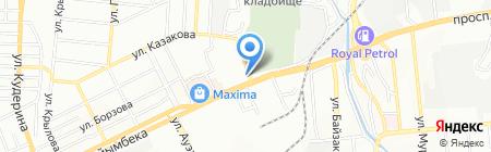 Нур Ансар на карте Алматы